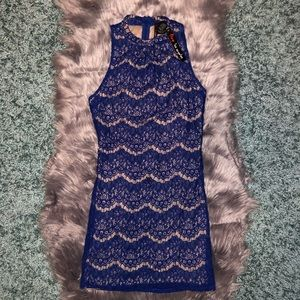 Lace sheath mini dress